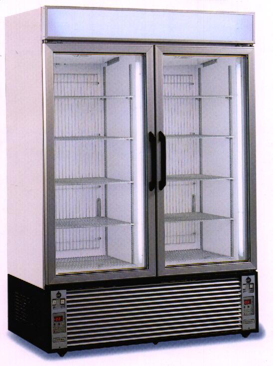 Hűtőszekrények üveg és teleajtóval