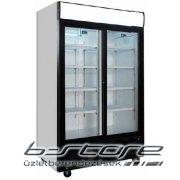 Üvegajtós hűtő C 801 GC SS