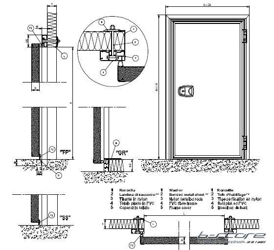 Hűtőkamraajtó 180 N 90