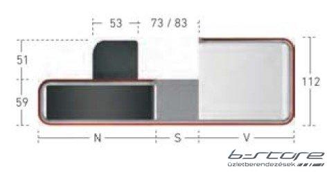 GS2A 230 / NS pénztárpult
