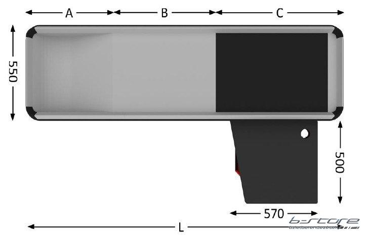 EGE 300 FL pénztárpult