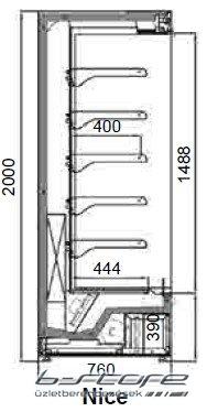 NICE 1250 Fali hűtő
