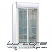 Üvegajtós hűtő C800GC SS